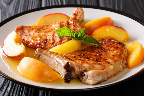 Peaches and Pork Chops are a natural pairing.  Try this fresh recipe today.