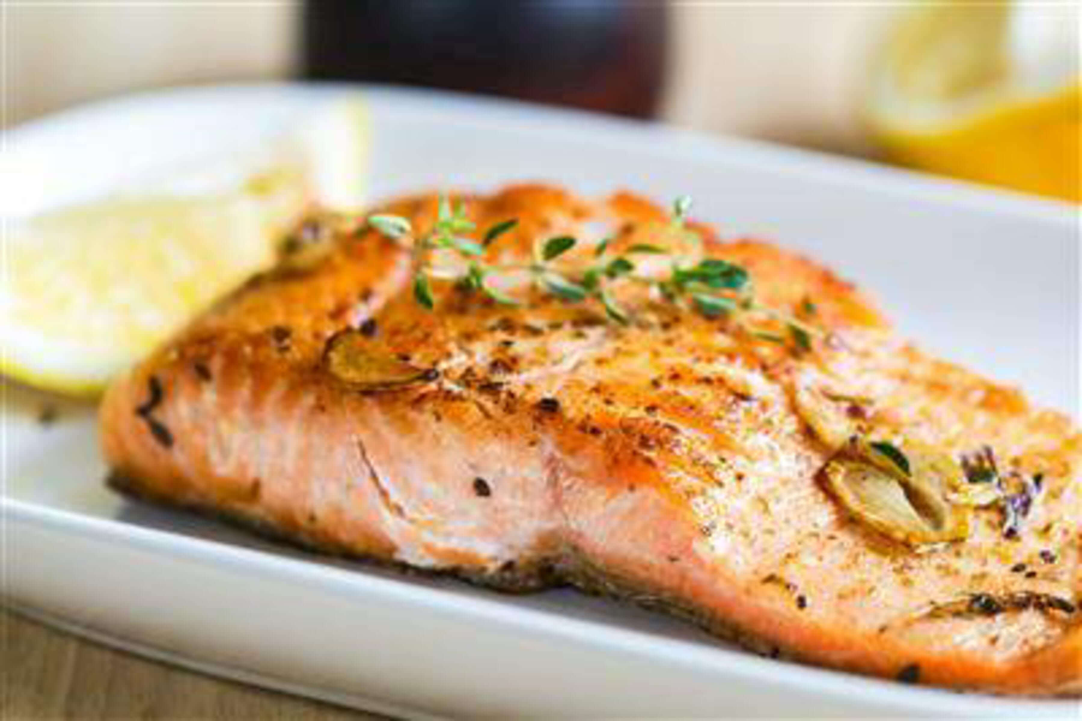 Anchovy-Grilled Salmon Steaks Recipe | RecipeSavants.com