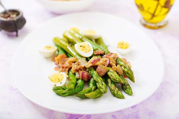 ChefBear Complete Meals - asparagus, bacon, & egg salad