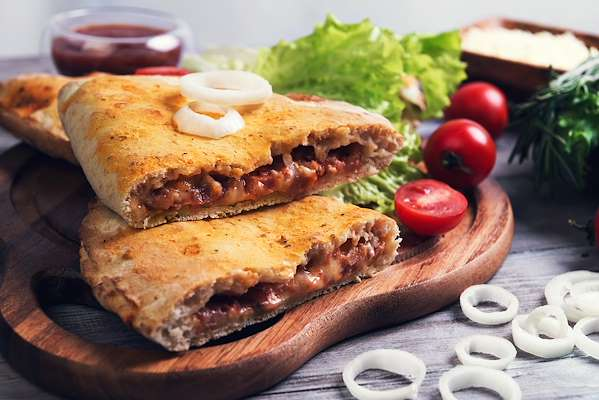 BBQ Grilled Chicken Calzones Recipe