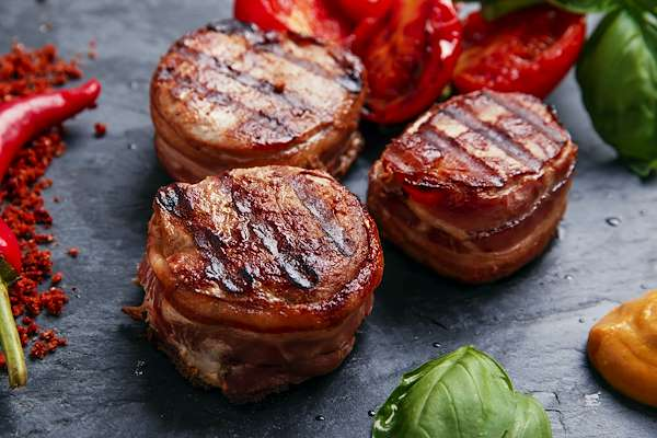 Bacon Wrapped Petite Fillet Mignon Recipe