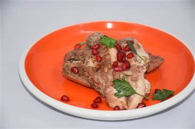 RecipeSavants - Baked Chicken With Pomegranate
