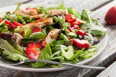 Orginal Recipe For Balsamic Chicken & Strawberry Salad - easy American recipe easy Chicken,Vegetables recipe