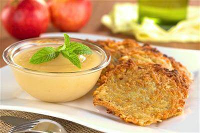 Recipe For Bavarian Potato Pancakes With Applesauce