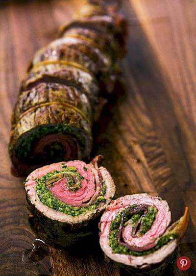 Beef Roulades With Walnut Parsley Pesto Recipe