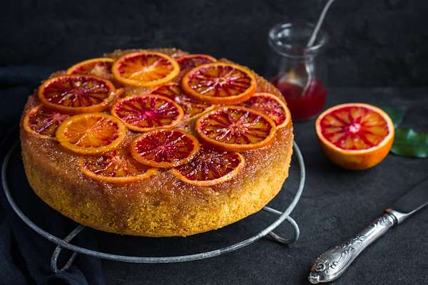 RecipeSavants - Blood Orange Upside-Down Cake