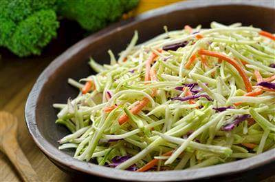 Broccoli Slaw With Sunflower Seeds & Poppy Seed Dressing Recipe