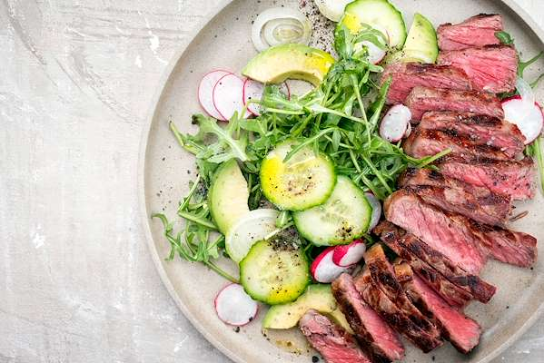 ChefBear Complete Meals - california steak salad with chimichurri dressing