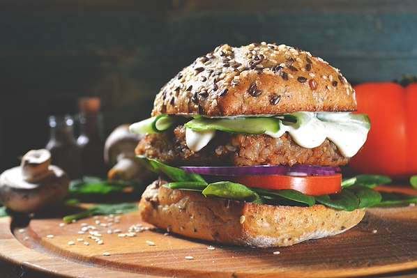 Caramelized Onion-Veggie Burger Recipe