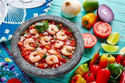 Ceviche Shrimp With Pico De Gallo Recipe