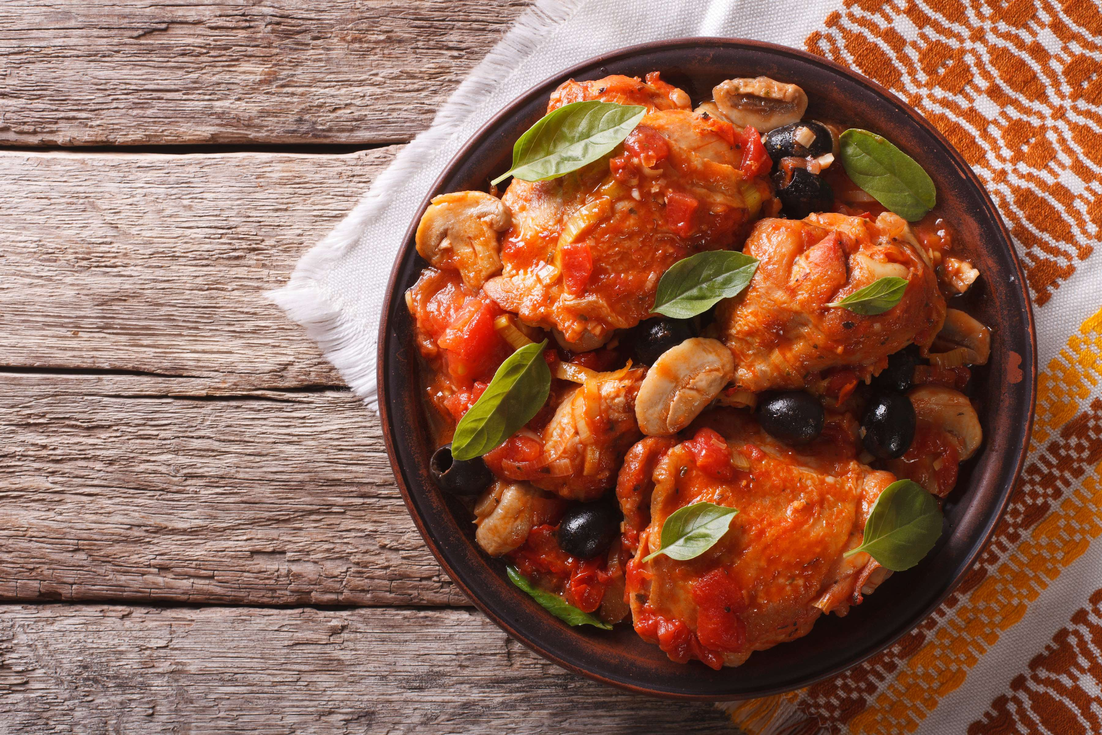 Chicken Cacciatore With Orzo Recipe | RecipeSavants.com