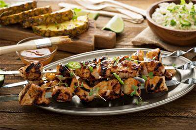 Chicken Kabobs With Pineapple Sauce Recipe