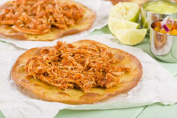 RecipeSavants - Chicken Tinga Tostadas