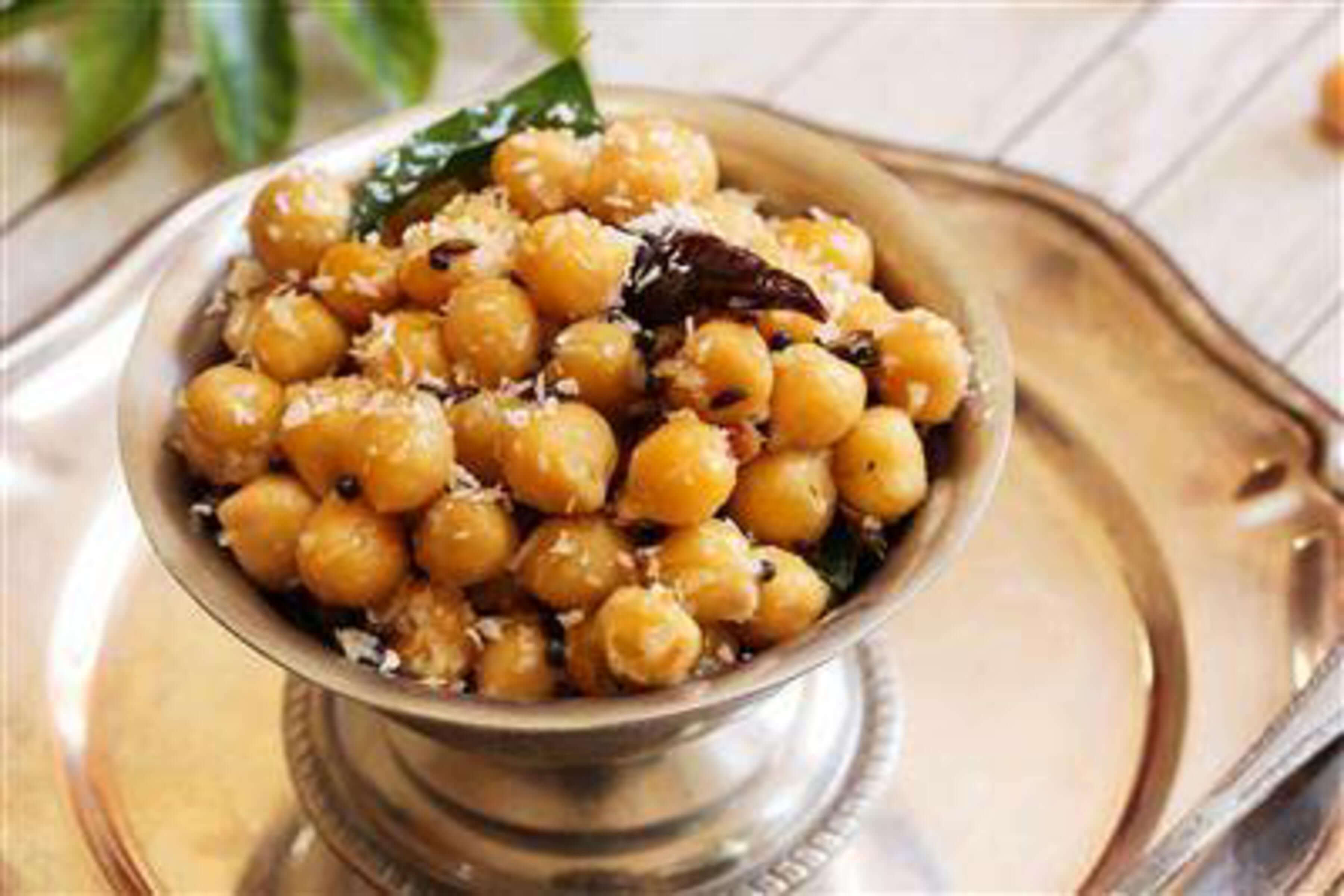 Chickpea Sundal Recipe | RecipeSavants.com