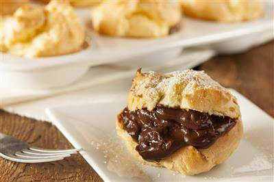 Choco-Nutty Cream Puffs Recipe