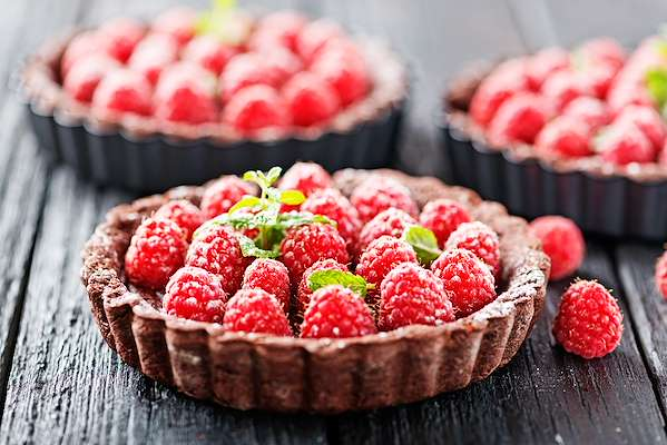 Chocolate & Raspberry Tart Recipe