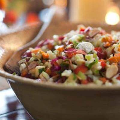 Chopped Salad With Goat Cheese & Almonds Recipe