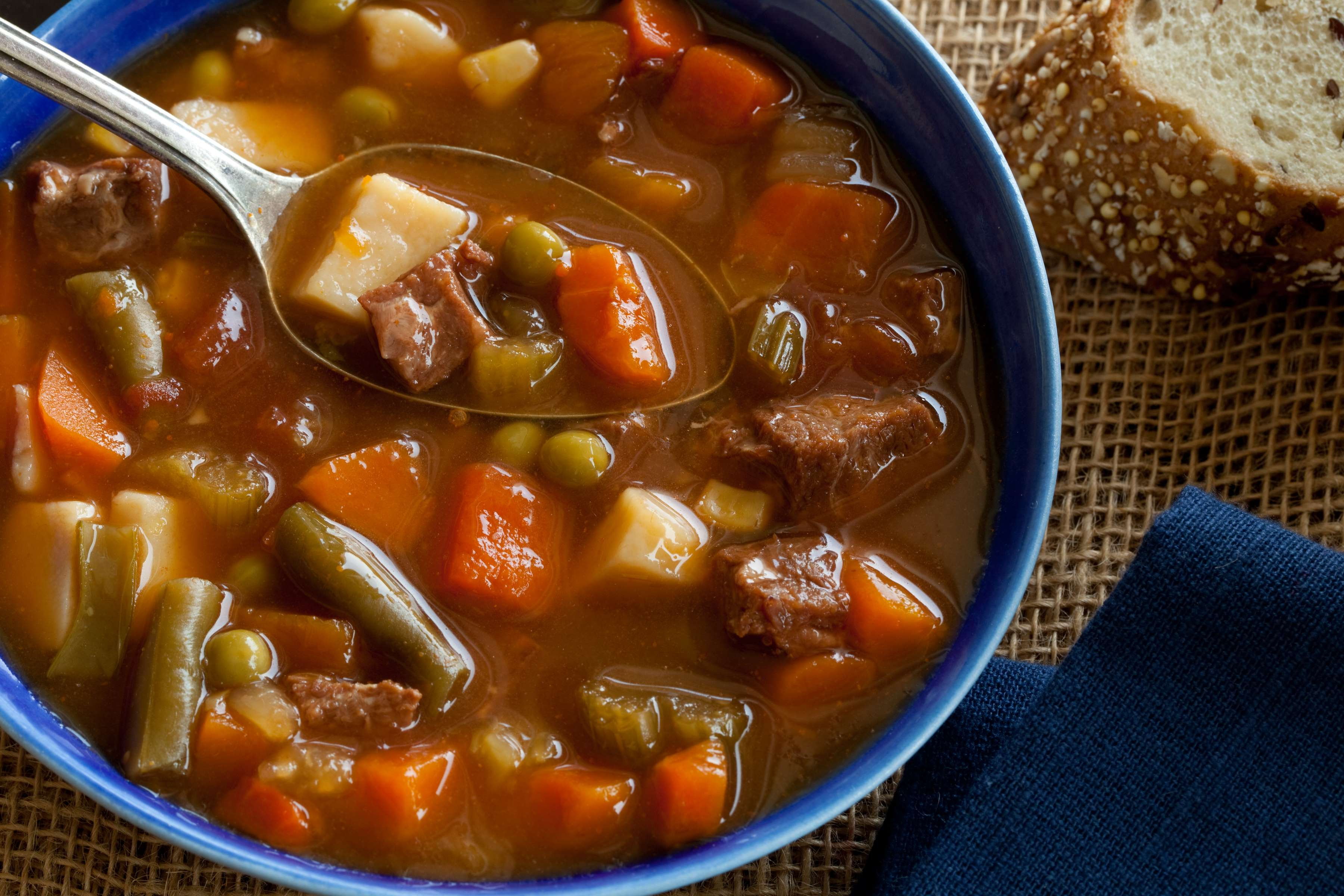 Chunky Beef Soup Recipe | RecipeSavants.com