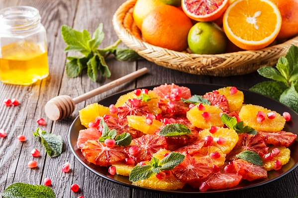RecipeSavants - Citrus & Pomegranate Salad