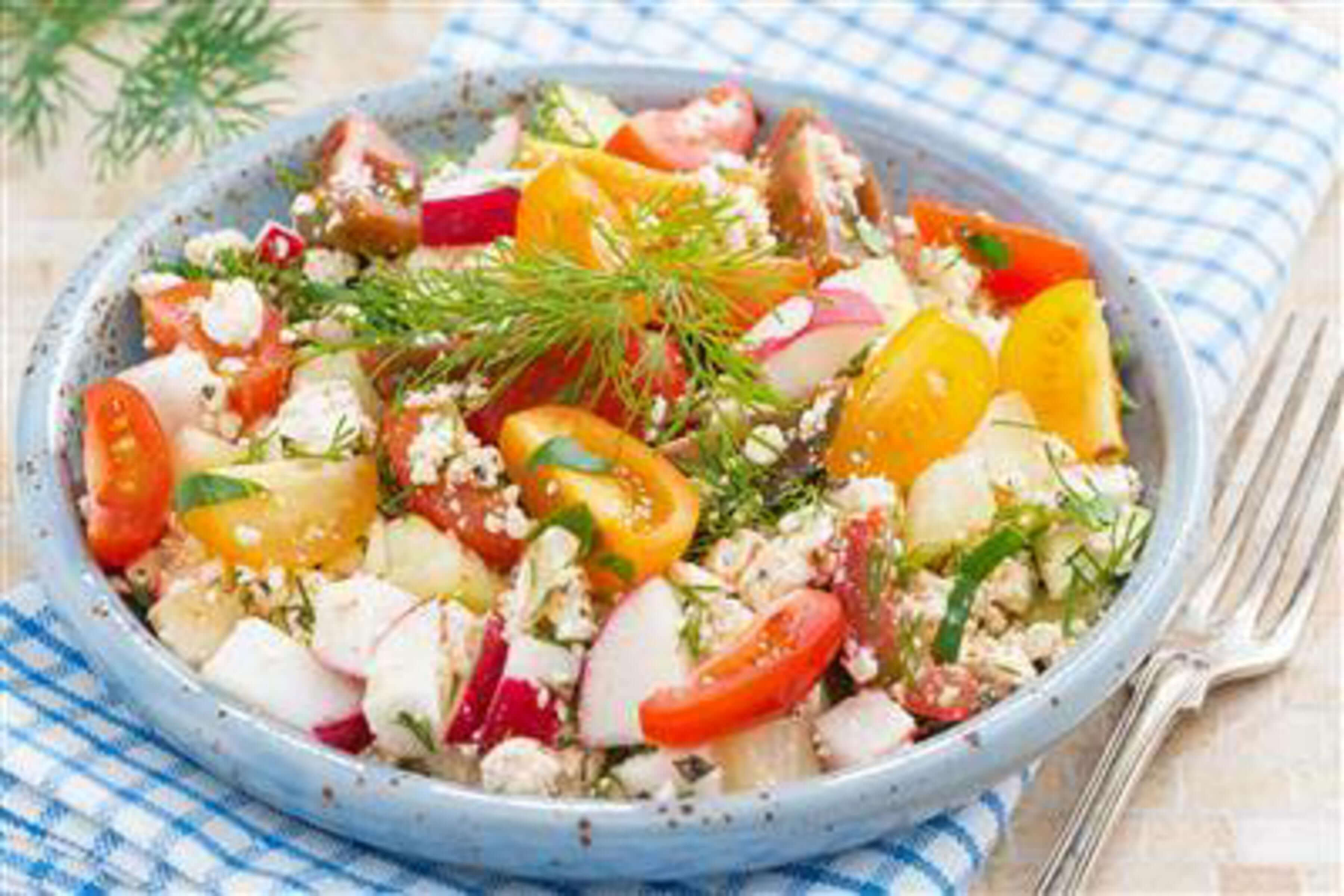 Cottage Cheese Rainbow Salad Recipe
