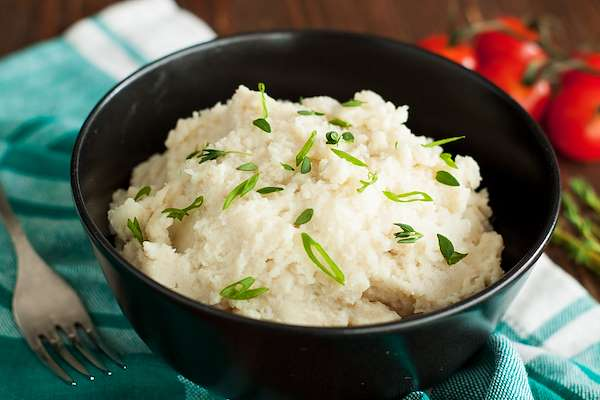 Creamy Garlic Mashed Cauliflower