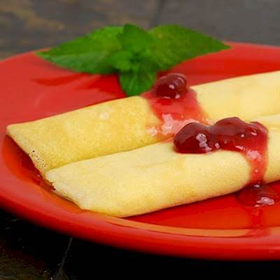 Crepes With Cheese Filling Recipe