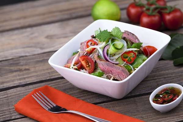Crunchy Asian Beef Salad Recipe