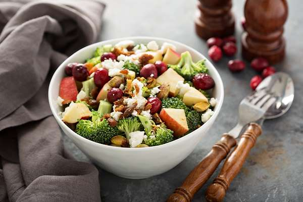 ChefBear Complete Meals - crunchy broccoli & fruit salad