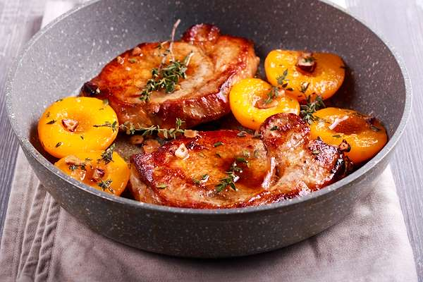 Curried Peaches & Pork Chops Recipe