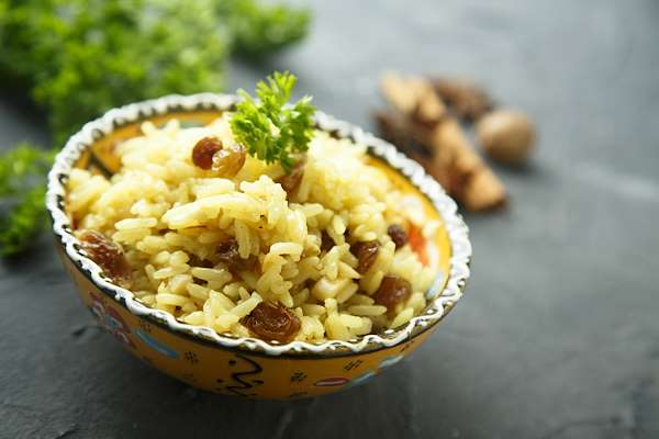 RecipeSavants - Easy Almond Rice Pilaf