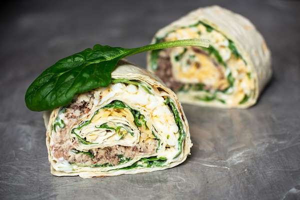 Easy BLT Lavash Wraps Recipe