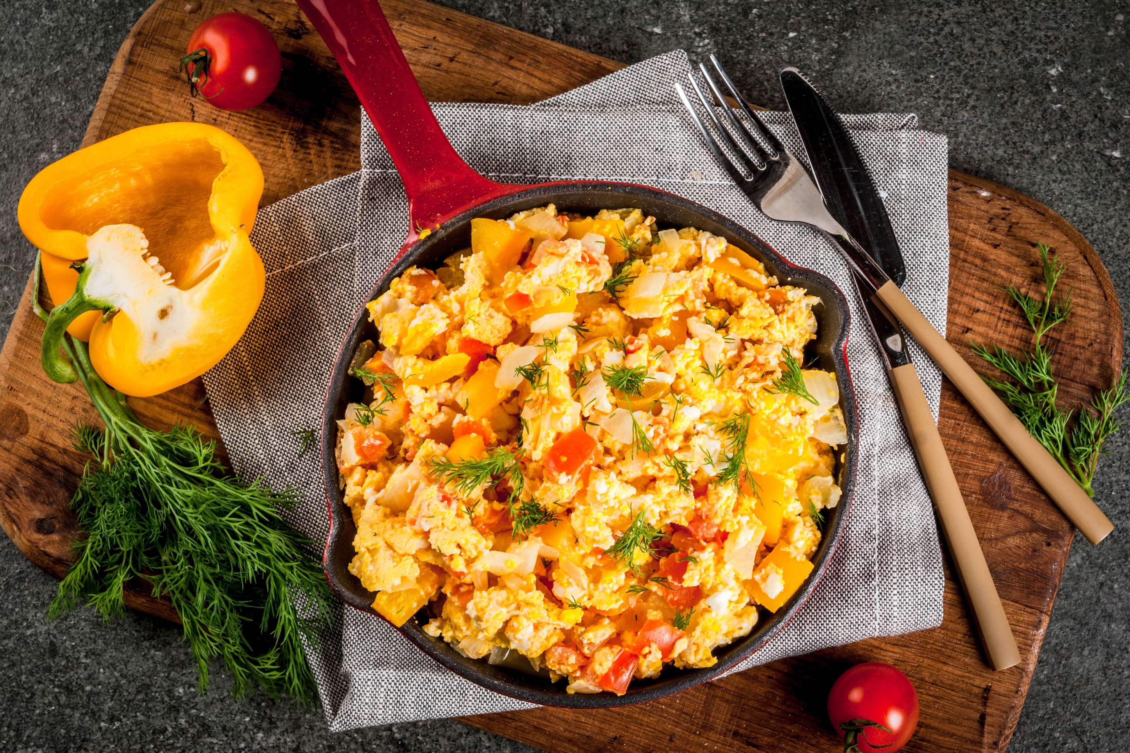 Egg And Veggie Scramble Recipe | RecipeSavants.com