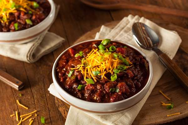 Five-Bean Vegetarian Chili Recipe