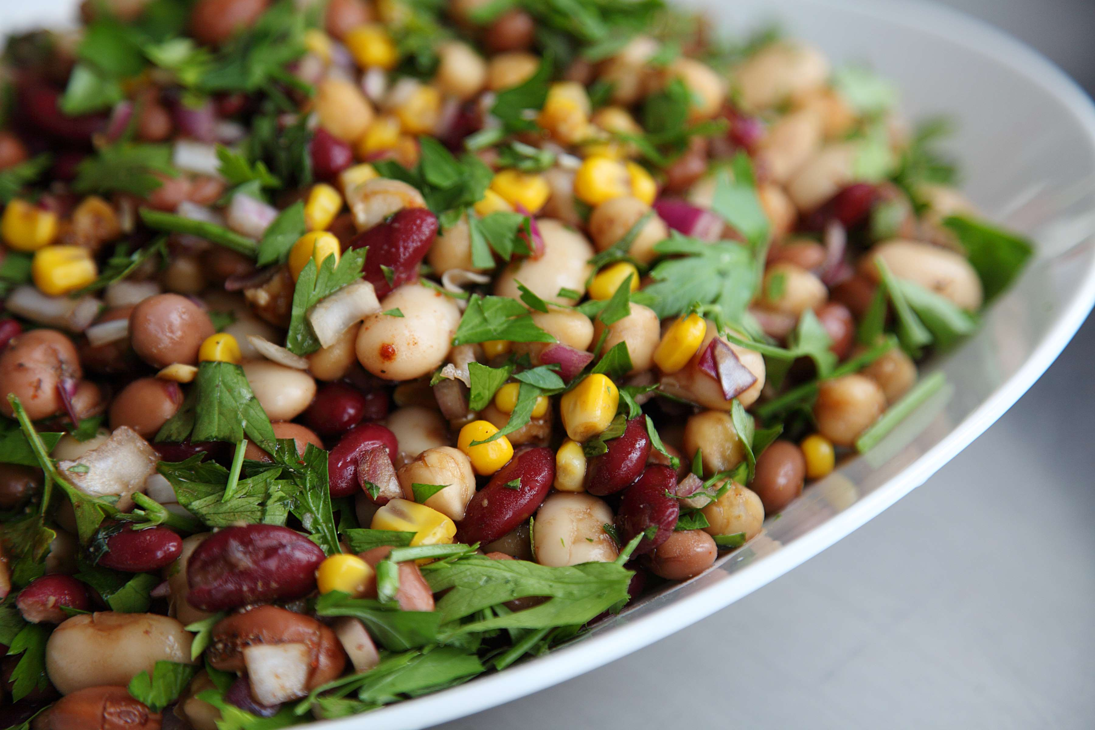 Flavorful Five Bean Salad Recipe | RecipeSavants.com
