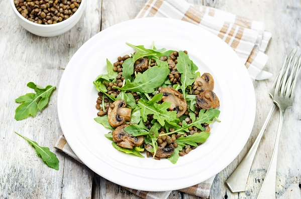 ChefBear Complete Meals - french lentil and arugula salad