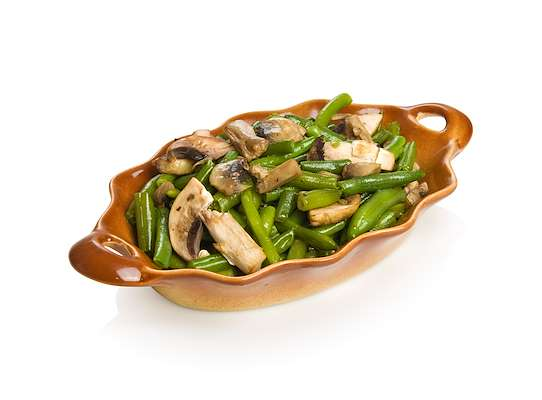 Fresh Green Beans And Mushrooms In Garlic Butter Sauce Recipe