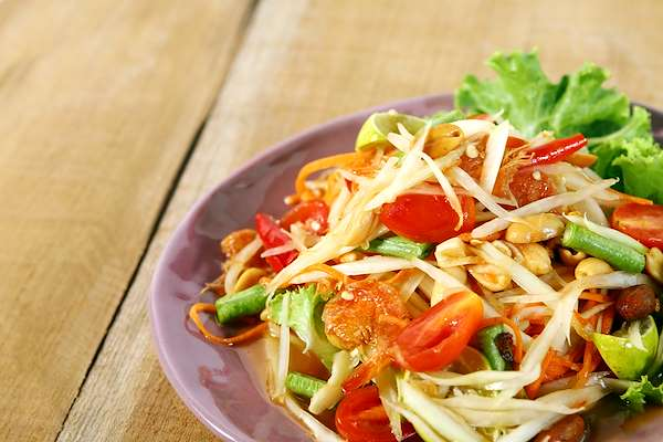 Fresh Green Papaya Salad Recipe