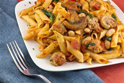 Fresh Pasta With Sausage & Mushrooms Recipe