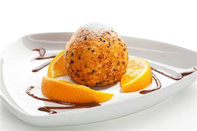 Fried Ice Cream With Chocolate Sauce Recipe