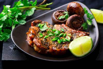 Fried Pork Chops With Lemon And Lime Juice And Cilantro Recipe