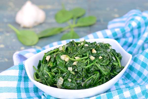 Garlic Sauteed Spinach Recipe