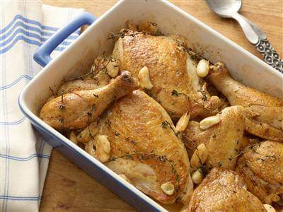 Garlicky Roast Chicken Recipe