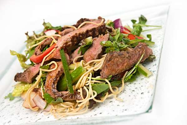 Grilled Flank Steak With Noodle Salad Recipe