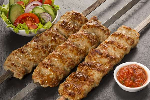 Grilled Ground Lamb Kebabs With Fresh Hot Pepper Sauce Recipe