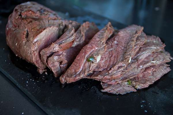 Grilled Herb Bison Tri Tip Roast Recipe