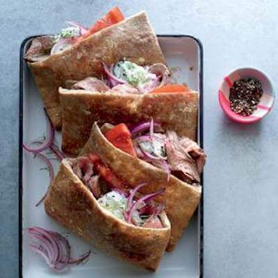 Grilled Steak Pockets Recipe