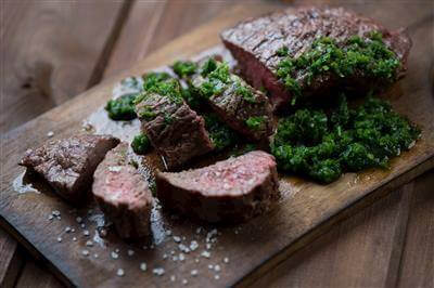 Modern Grilled Steak & Fresh Chimichurri Sauce Recipe