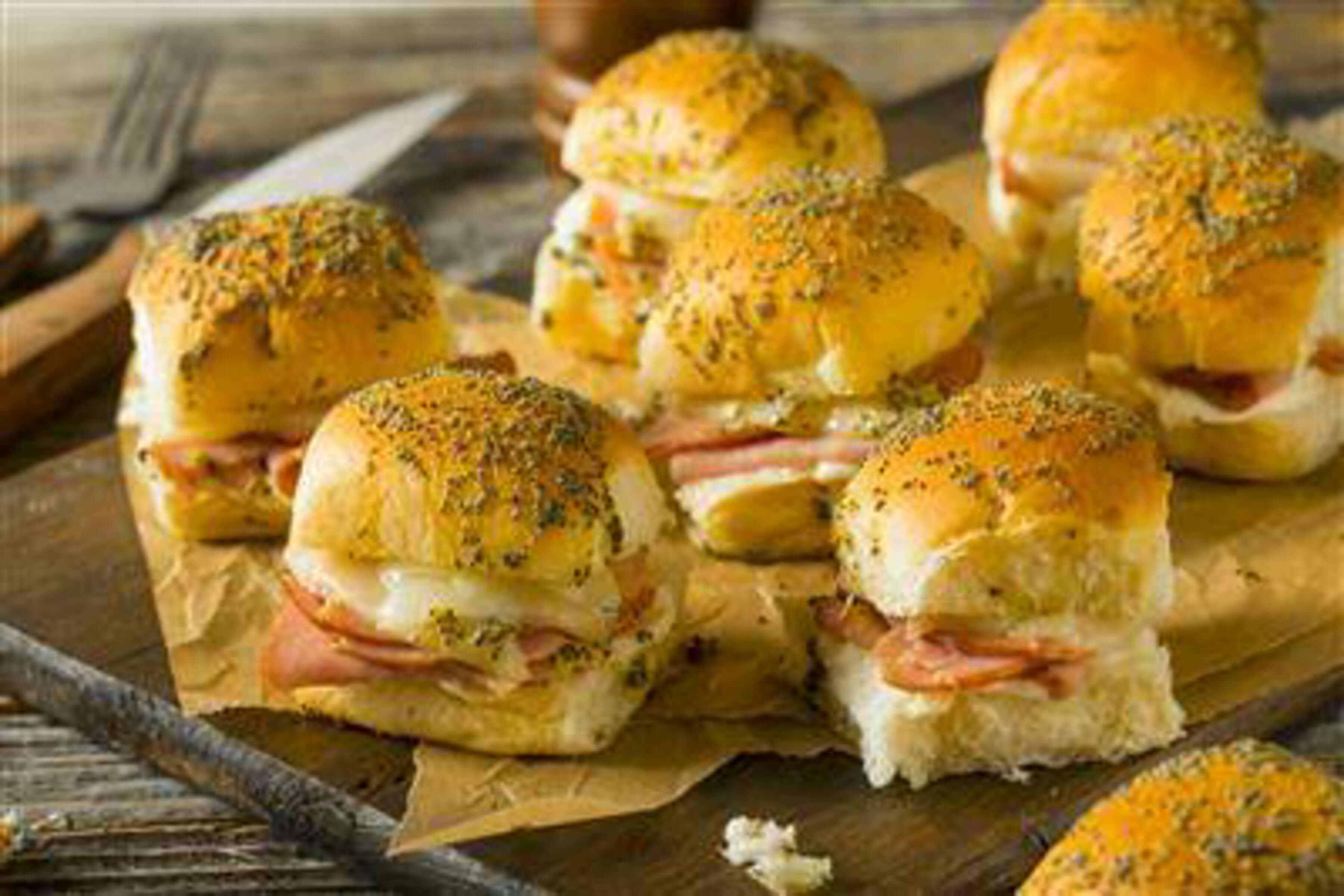 Hawaiian Ham And Swiss Sliders Recipe