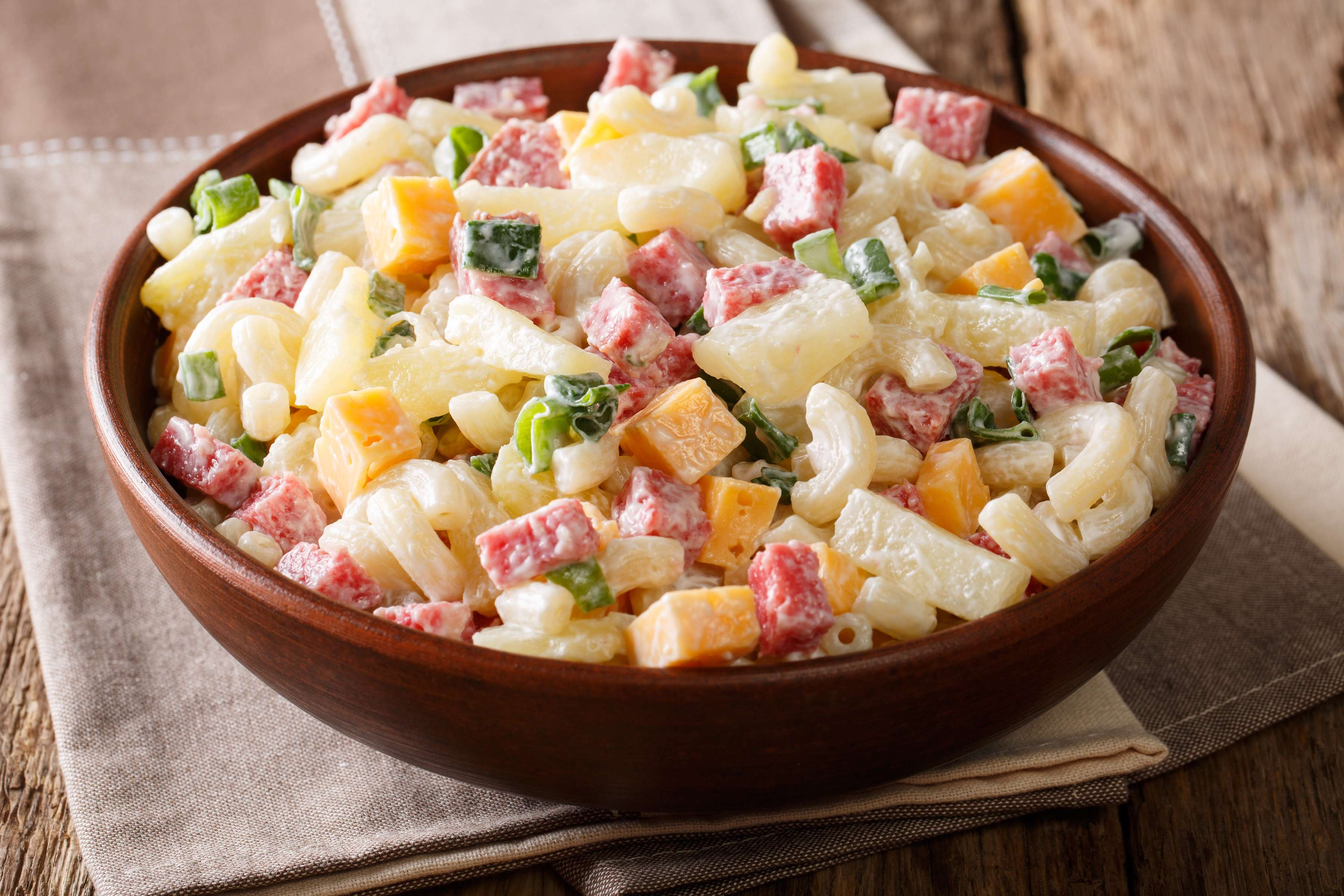 Hawaiian Style Pasta Salad Recipe | RecipeSavants.com