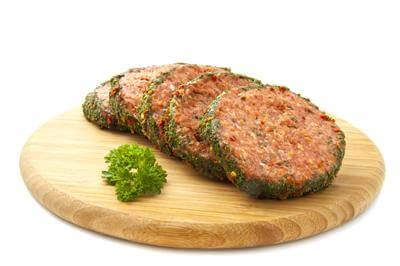 Herb Butter Hamburgers With Salad Recipe